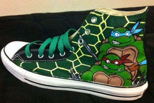 Teenage Mutant Ninja Turtles Converse Chuck by KivadenoCustoms