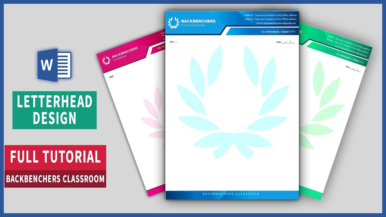 How To Make Letterhead Design In Ms Word Printable Letterhead Free Template Letterhead Design Letterhead Template Free