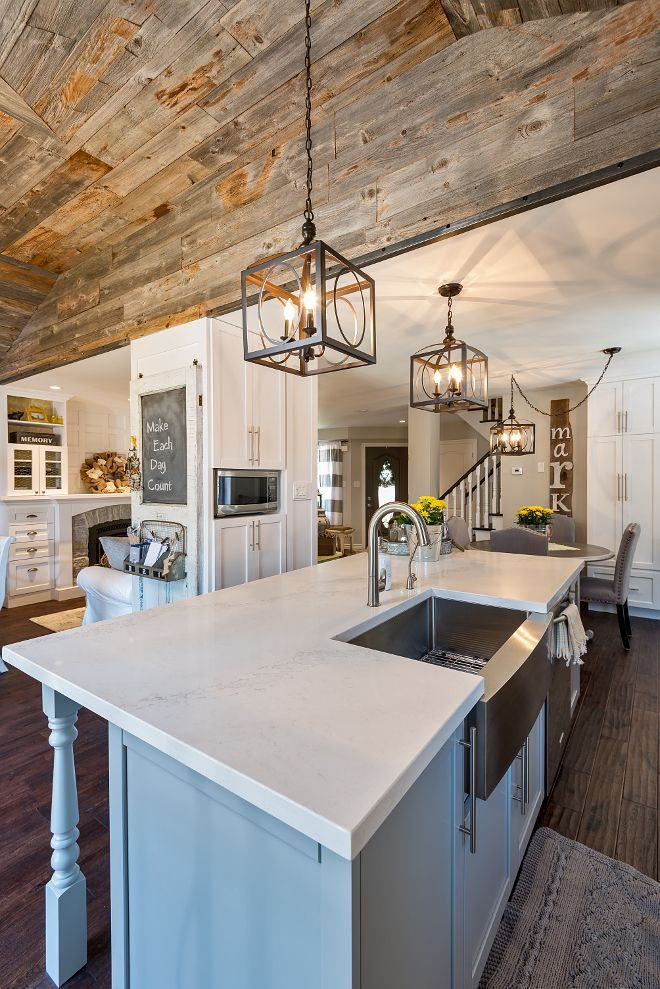 The Room May Receive Welcoming Glow Thanks To Big Pendant Lighting That Gives Stair Land Rustic Pendant Lighting Kitchen Rustic Farmhouse Lights Rustic Kitchen
