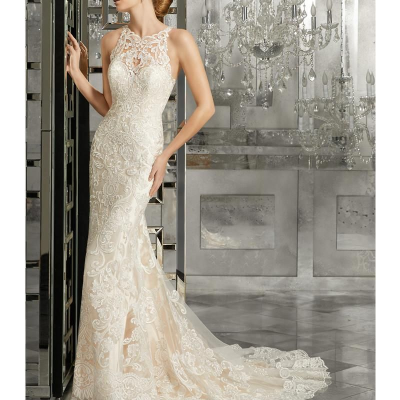 Classic Elegant Wedding Dresses Mermaid Scoop Appliques Tulle Bridal Gowns robe de mariage 2017 vestidos de noiva Wedding Gown