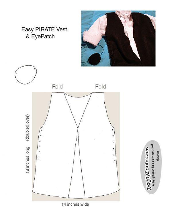 Pirate Vest & EyePatch | Pirat, Kleidung nähen und Verkleidung