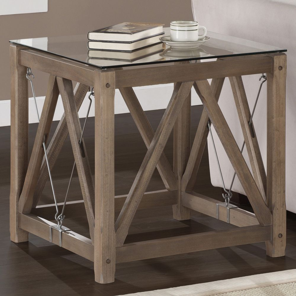 Cable End Table Gina Living Room End Tables Rustic