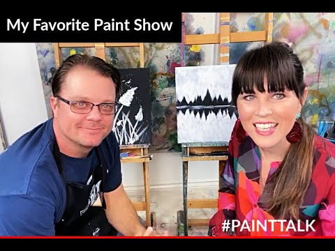 #PAINTTALK Husband and Wife Paint Off!!! - YouTube #painting #theturquoiseiris