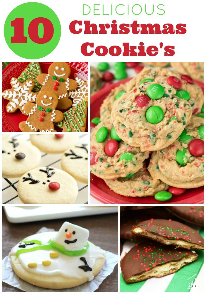 10 Delicious Christmas Cookie Recipes Delicious Desserts Holiday