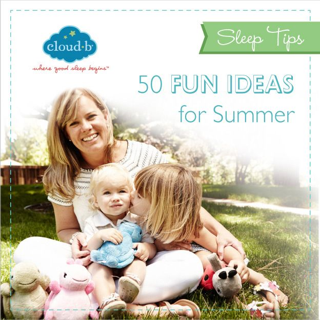 Get outside and have a good time using these 50 fun ideas for summer! (Bonus: It'll wear out your little ones, so they sleep like logs!) #Cloudb