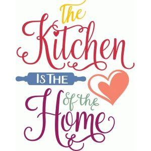 Silhouette Design Store The Kitchen Is Heart Of Home Seni Dinding Gambar Hiasan Poster Rumah