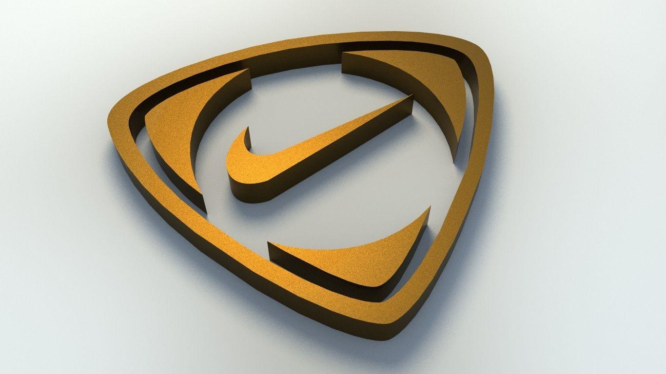 Prestado beneficioso caos  Nike Logo 3D Model | Nike logo, Logos, Nike