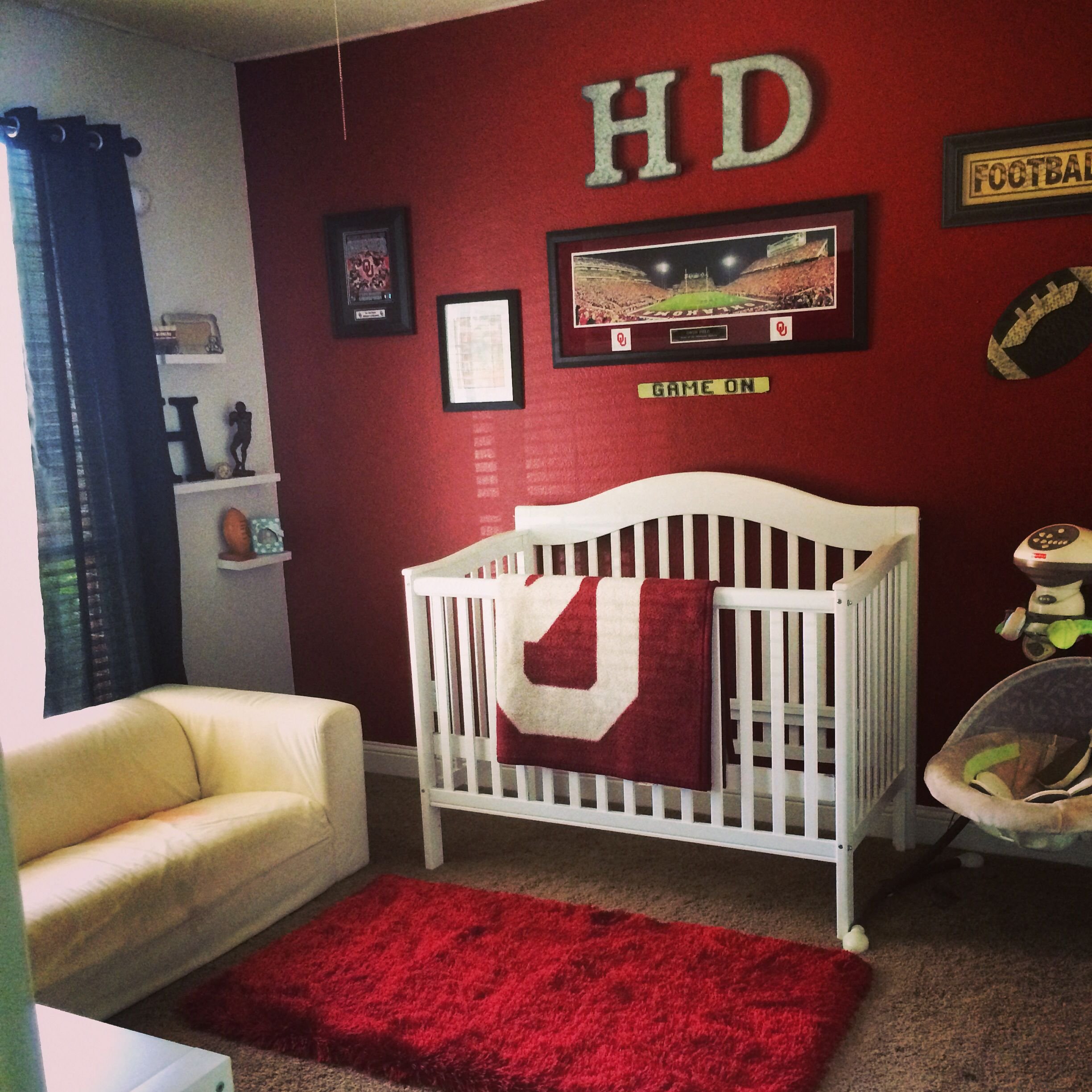 Our Sweet Baby Boys Nursery Oklahoma Sooner Theme With A