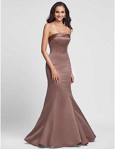 a2c7aedef70f5 Vestido Dama de Honor Sin Mangas Largo (Vestidos de Fiesta Baratos ...