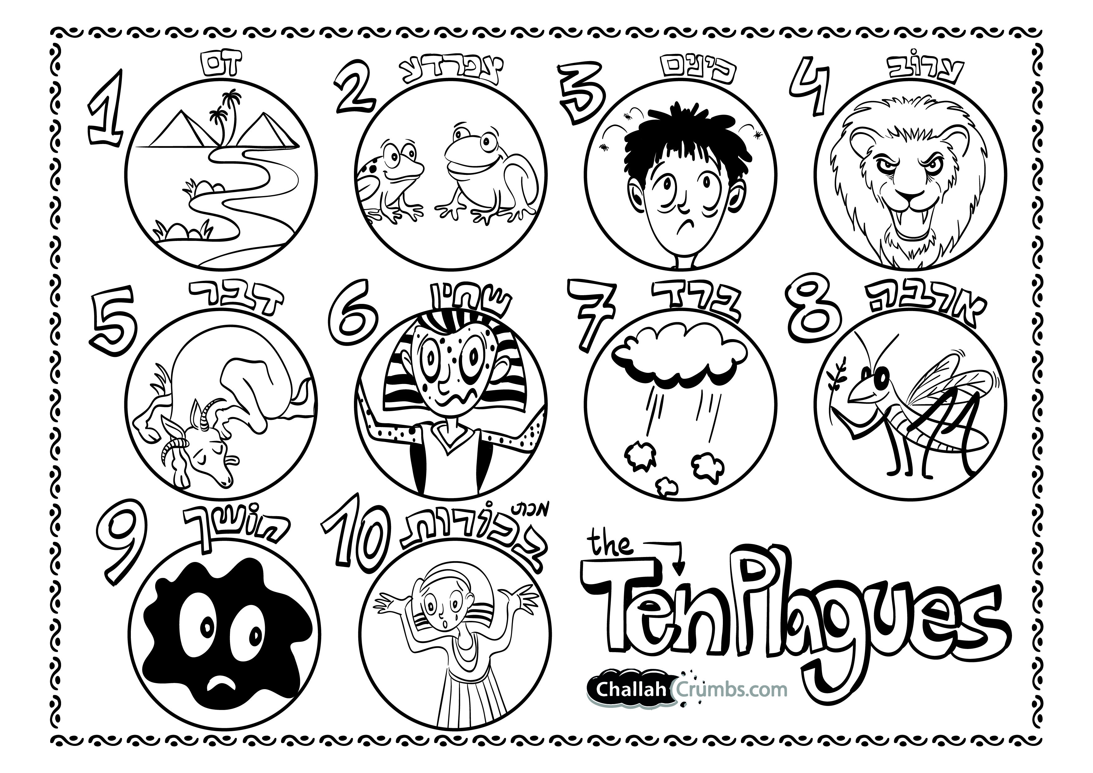 Printable Coloring Page Ten Plagues Of Egypt Bible Activities