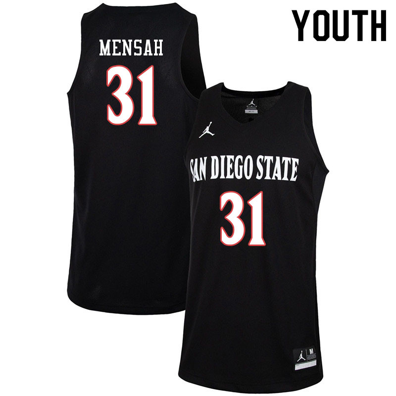 Jordan Brand Youth 31 Nathan Mensah San Diego State Aztecs College Basketball J In 2020 College Basketball Basketball T Shirt Designs Basketball Jersey