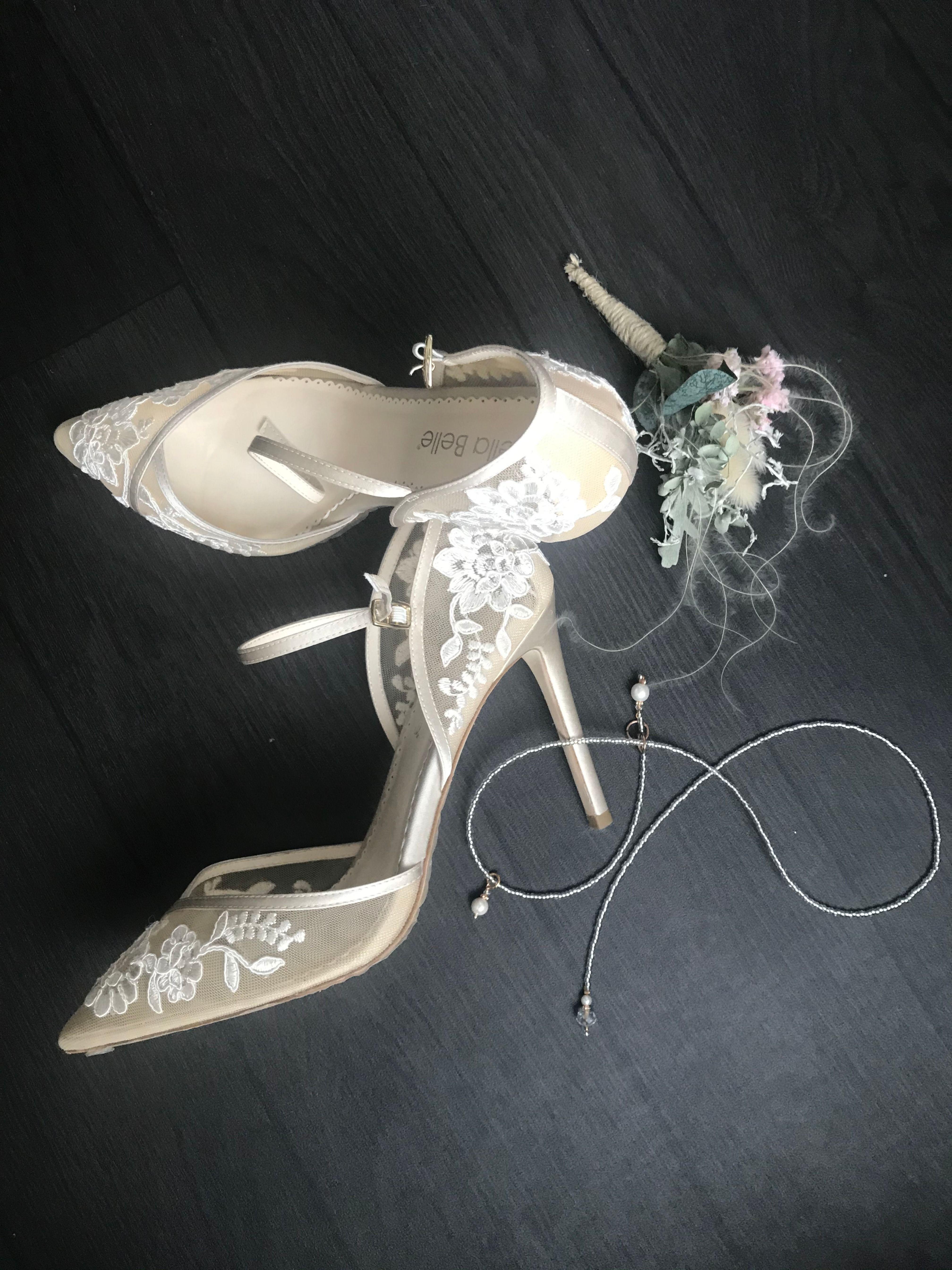 Brautschuh mit schöner spitze perfekt für den schönsten Tag