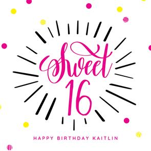 Modern Sweet 16 Birthday Card Free Greetings Island 16th Birthday Card Birthday Card Sayings Free Birthday Card