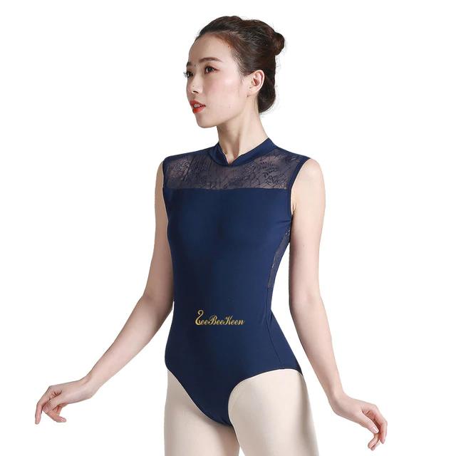 US Adult Ballet Leotard Gymnastics Stretchy Dance Bodysuit Women Dancer Unitards