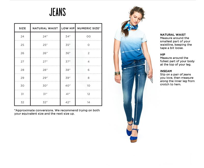 Clothing size charts measurement guide madewell with