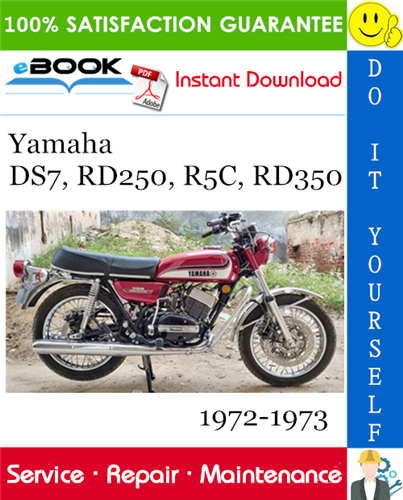 Yamaha Ds7 Rd250 R5c Rd350 Motorcycle Service Repair Manual 1972 1973 Download Repair Manuals Repair Yamaha