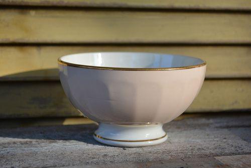 Antique Cafe Au Lait Bowl Vintage Soup Bowls French Kitchen Decor Old Orchies