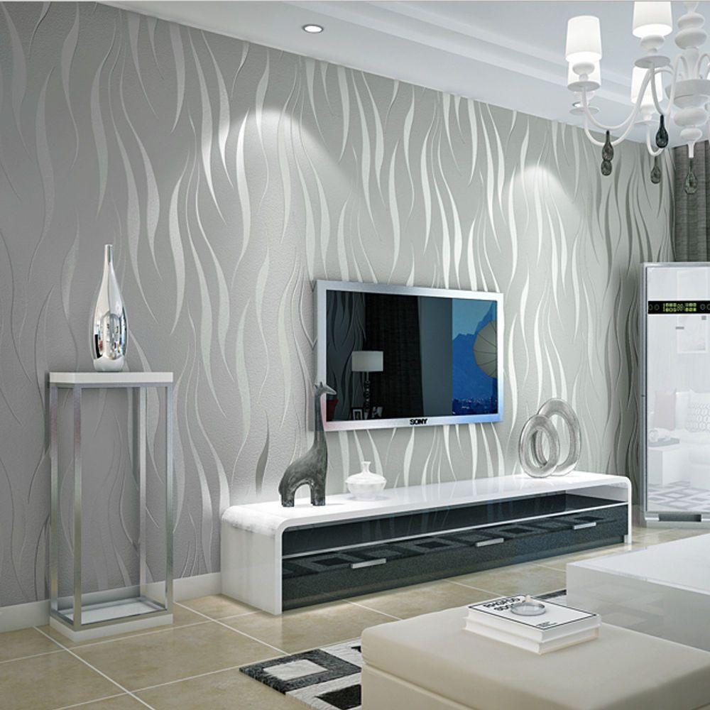 10m 3D Vlies Tapete Ornament Wellen Streifen Barock Design ...