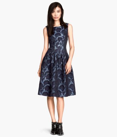 924db1d25806 H M - Brocade Dress Fitted