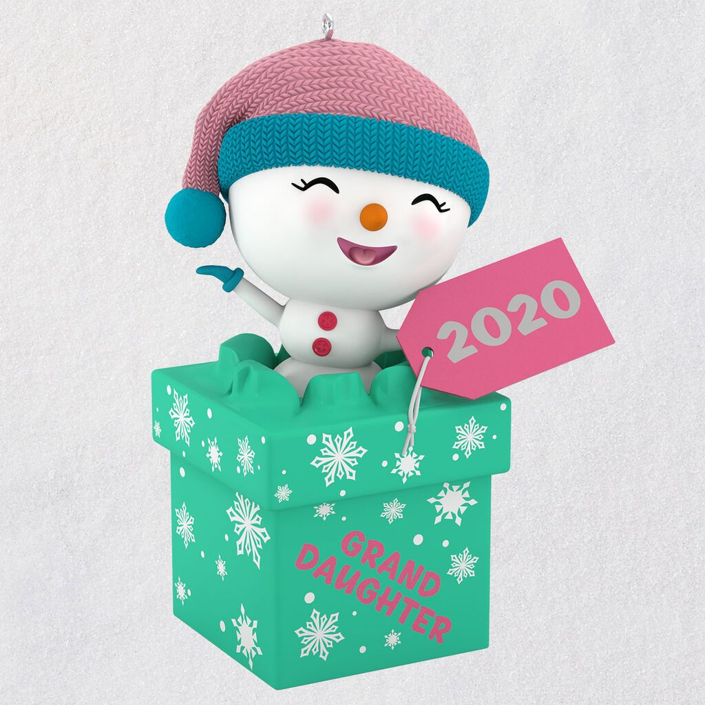 The Gift of Granddaughters Snowman 2020 Ornament in 2020