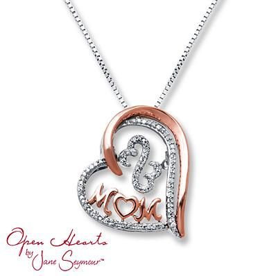 21f8ac81a Honor the most important woman in your life with this lovely Limited  Edition necklace in sterling silver and rose gold from the Open Hearts  Rhythm ...