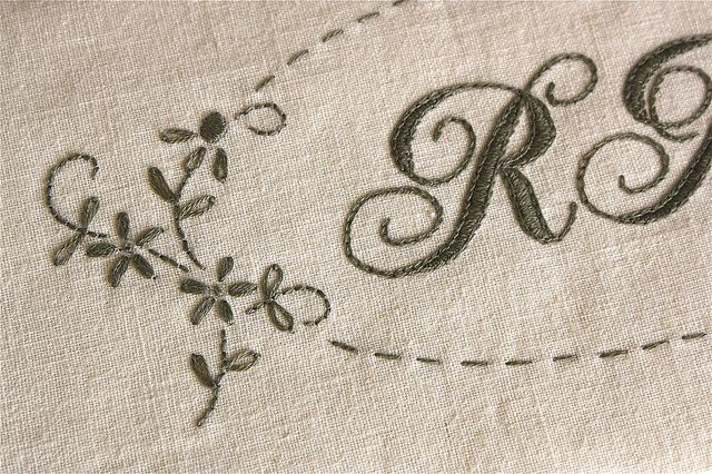 Monogram detail by Bloom and Blossom, via Flickr