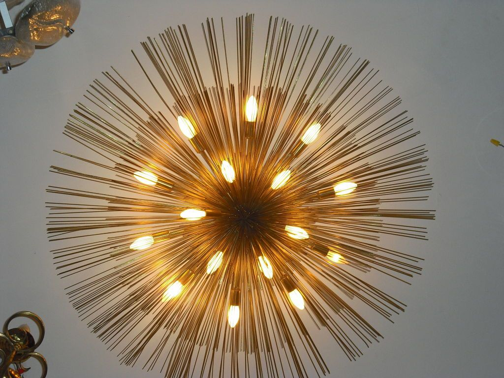 "Grand ""Nest"" Light Sculpture Flush Chandeliers, Mid-Century Mdern ... for Ceiling Light Sculpture  588gtk"