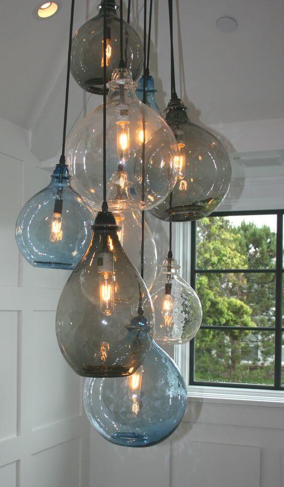 Trend Lampen van gekleurd glas Industriële verlichting