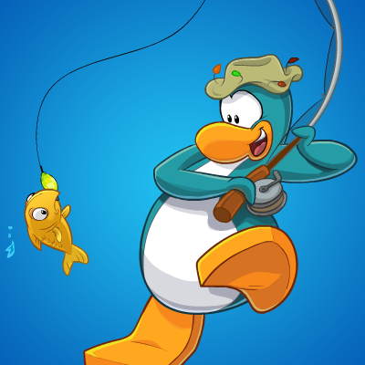 Gone Fishing Club Penguin Dibujos Faciles Dibujos