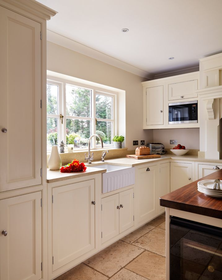 Classic English Cabinetry With Beaded Inset Doors And Drawers