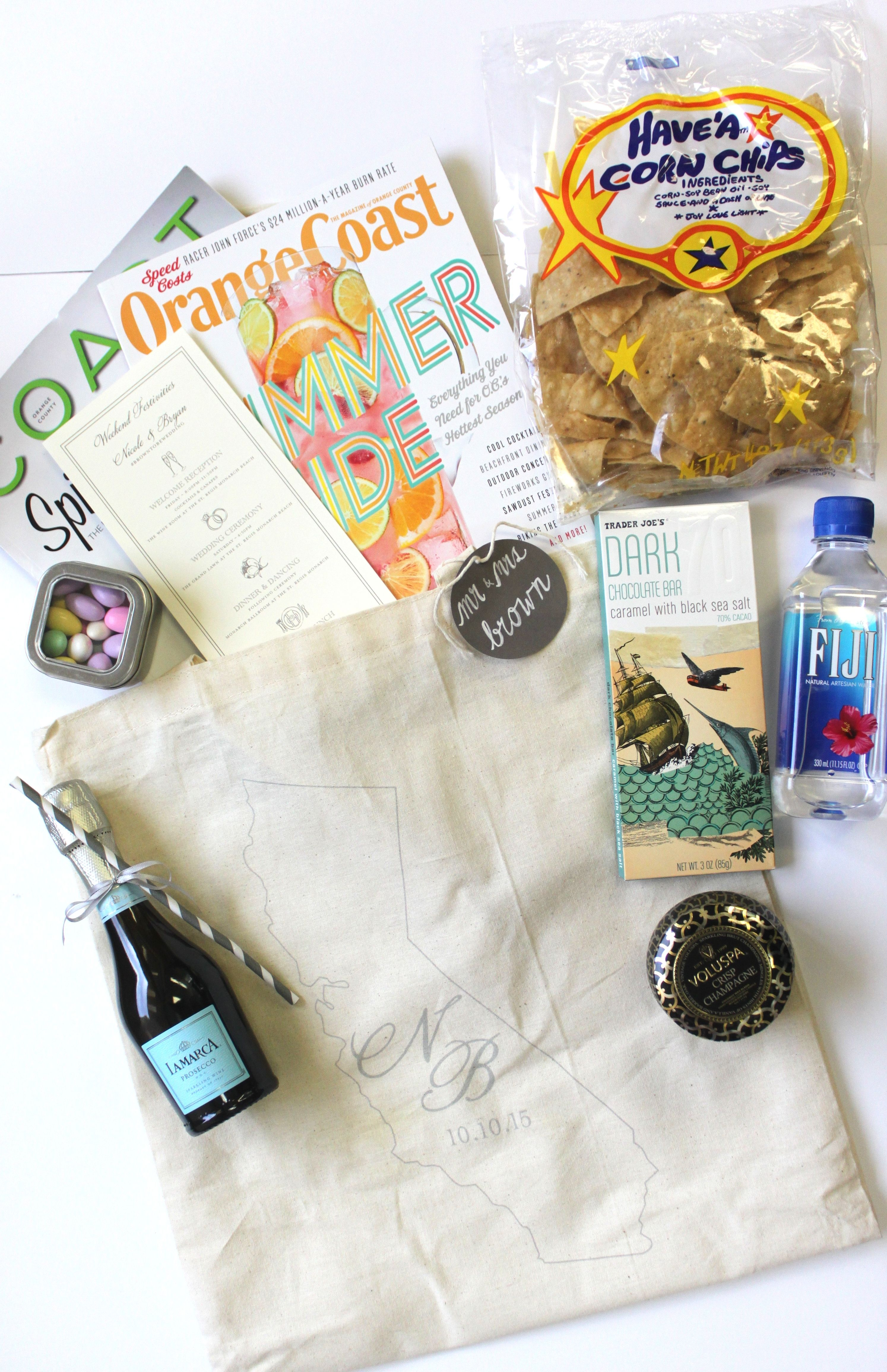 Diy Personalized California Themed Welcome Bags Welcome Bags Diy Personalized Yosemite Wedding