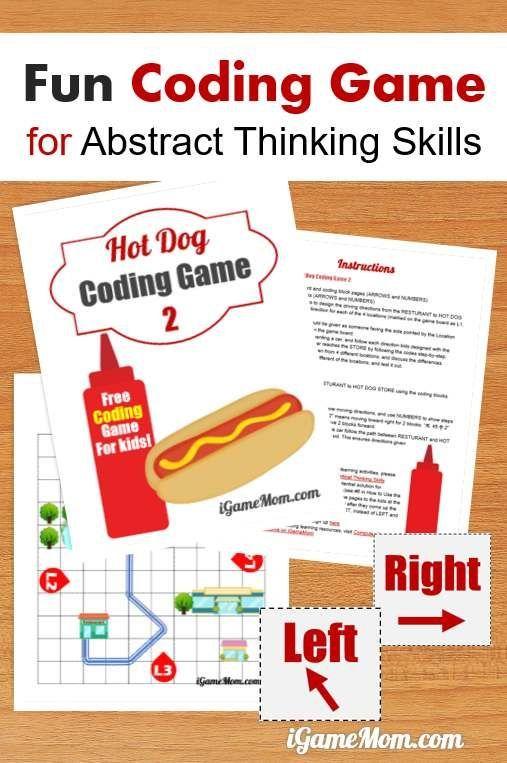 Hot Dog Coding Game 2 | Critical thinking skills, Thinking skills ...