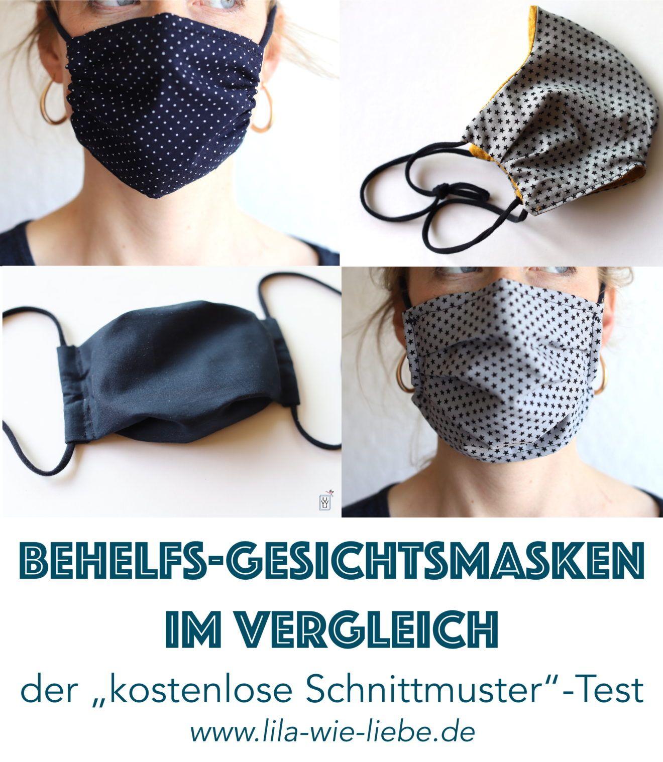 Gesichtsmaske / Atemschutz nähen - Kostenlose Anleitungen im Vergleich - Lila wie Liebe