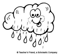 Pre K Clip Art Coloring Pages Coloring Books Weather Crafts