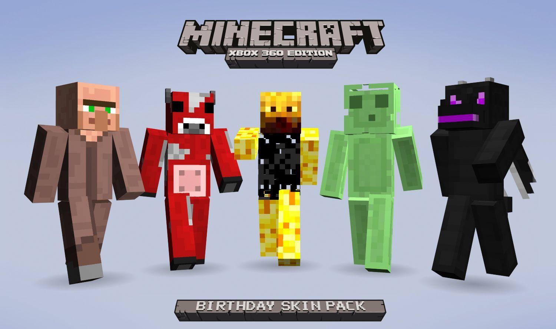 Minecraft Xbox Skin Packs And FreeBirthdaySkin - Skins gratis minecraft xbox 360