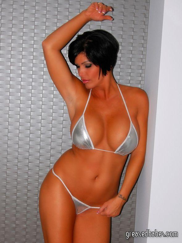 Pin By Sexymetallics On Bikinis - Metallic  Wet Look -8846