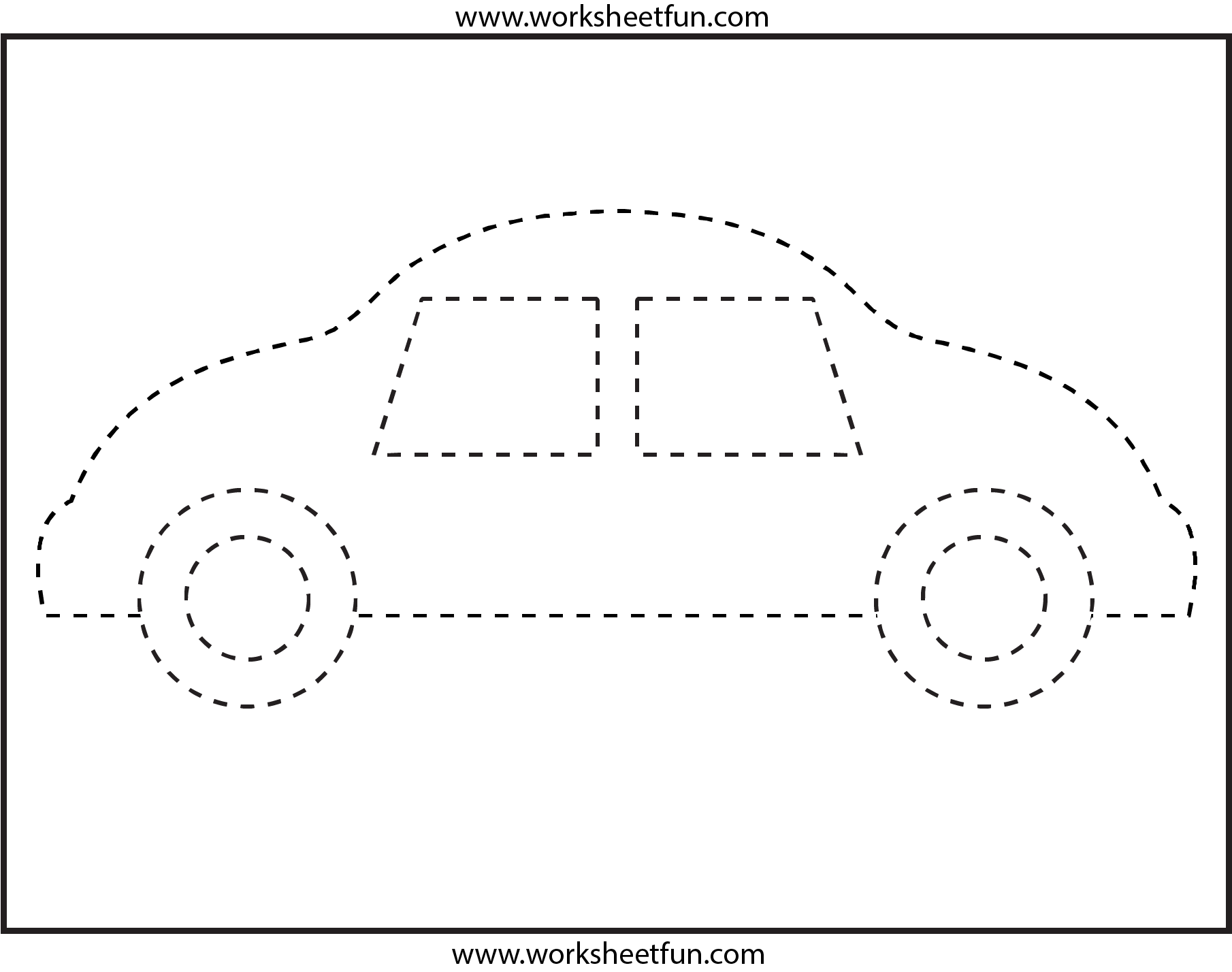 Worksheets Tracing Shapes Worksheets 1000 images about tracing on pinterest cars shape and preschool printables