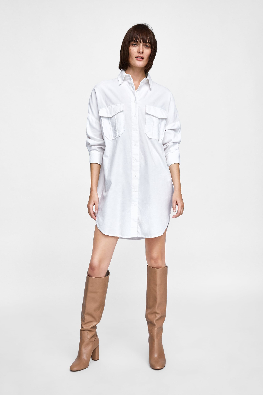 d0fa8b34 Fine corduroy shirt dress | New In 12.09 | Shirts, Shirt dress y Dresses