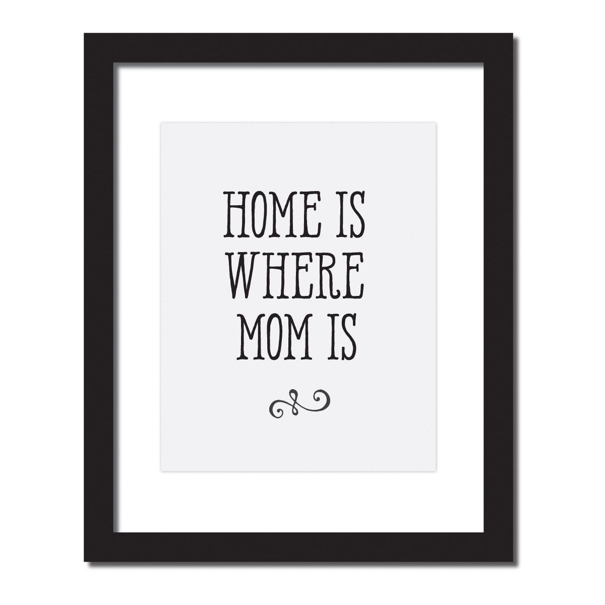 Inspirational Quote Print 'Home Is Where Mom Is