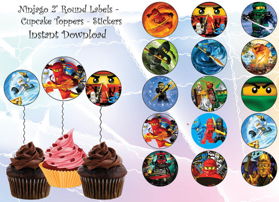 INSTANT DL Ninjago Cupcake Topper Ninago Party Von Nsprintdesign