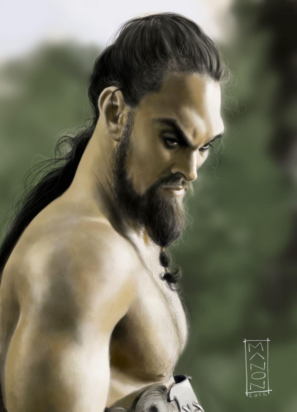 Khal Drogo Caricature by ArtByManon.deviantart.com on @deviantART
