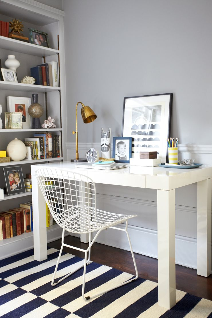 Office Makeover By Emily Henderson Starring West Elm Parsons Desk