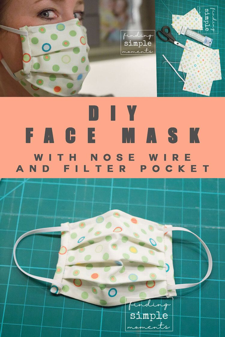 Photo of DIY Medical Masks with Nose Wire and a Filter Pocket