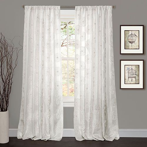 Samantha Microfiber Rod Pocket Curtain Panel Rod Pocket Curtain