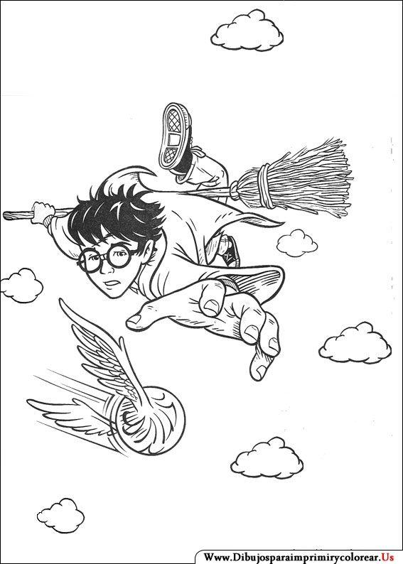 Dibujos de Harry Potter para Imprimir y Colorear Harry