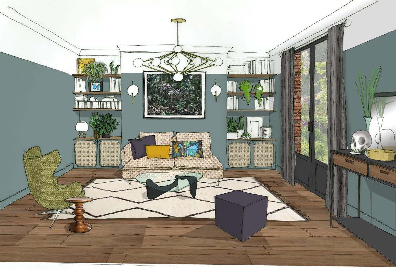 projet d 39 int rieur ambiance anglais cocooning plus de projets sur interior. Black Bedroom Furniture Sets. Home Design Ideas