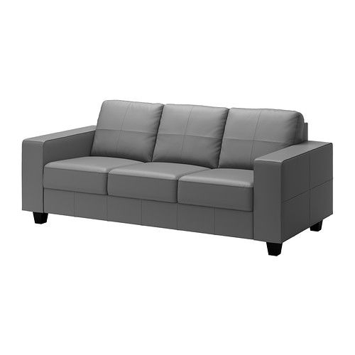 Skogaby Sofa Ikea Soft Dyed Through 3 64 Thick Grain Leather That Is Supple And Smooth To The Touch Modern Ski Lodge Living Room Ideas Leder Mobel Sofa