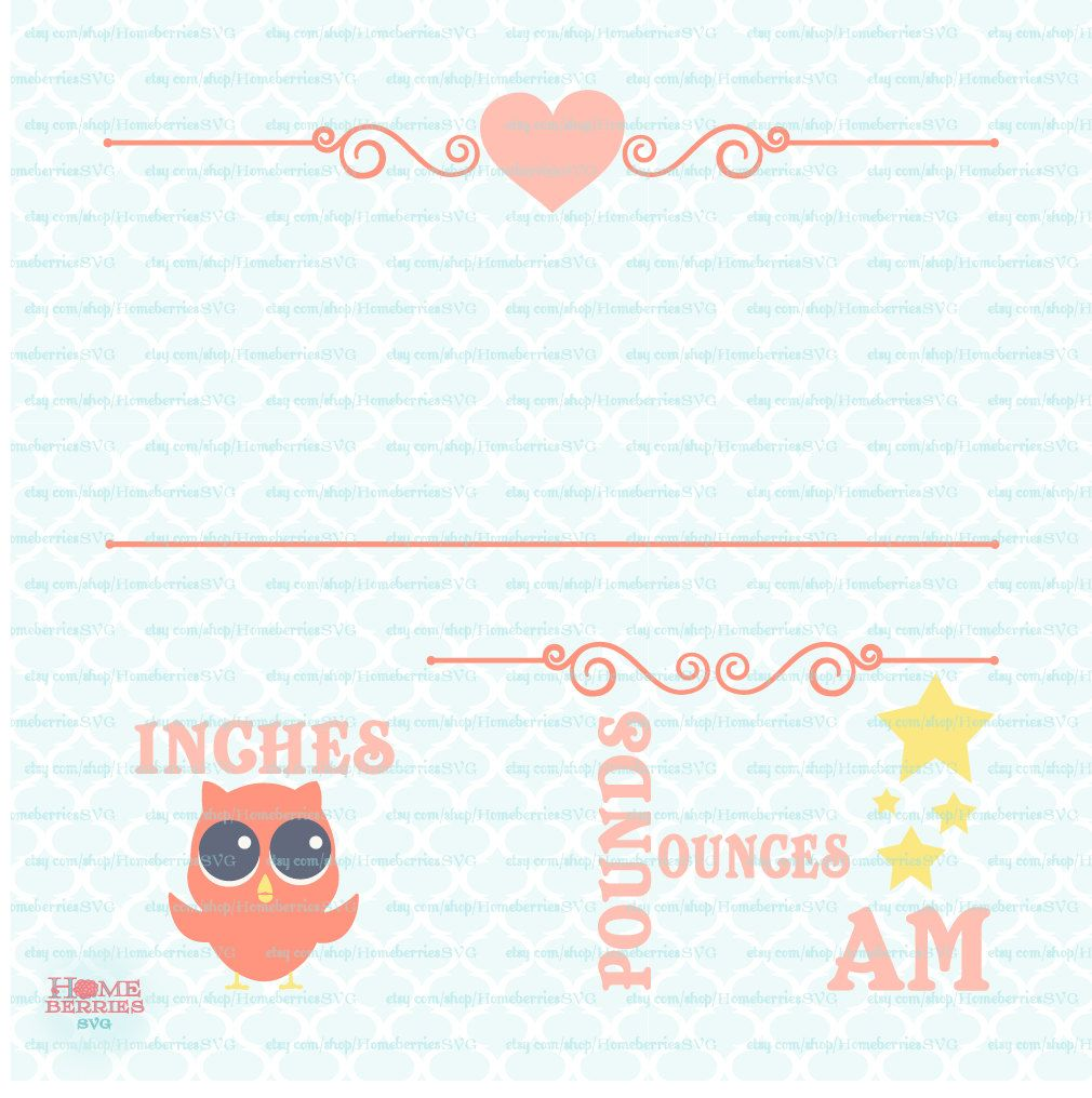 Birth Statistics Announcement Template  Owl Theme  Birth Stats