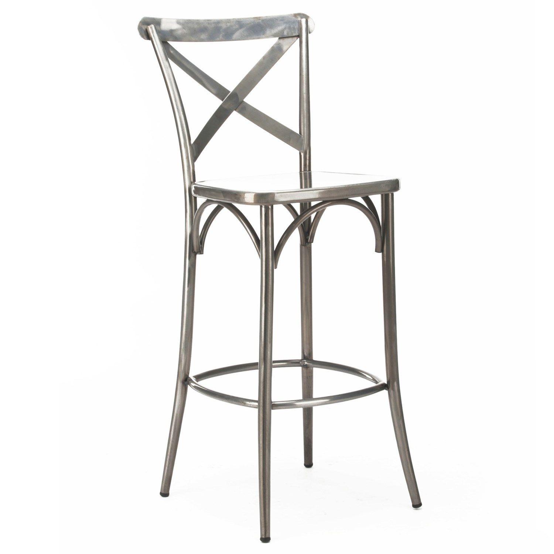 Tremendous Design Lab Ls 9904 30 Cross Back High Back Barstool Set Andrewgaddart Wooden Chair Designs For Living Room Andrewgaddartcom