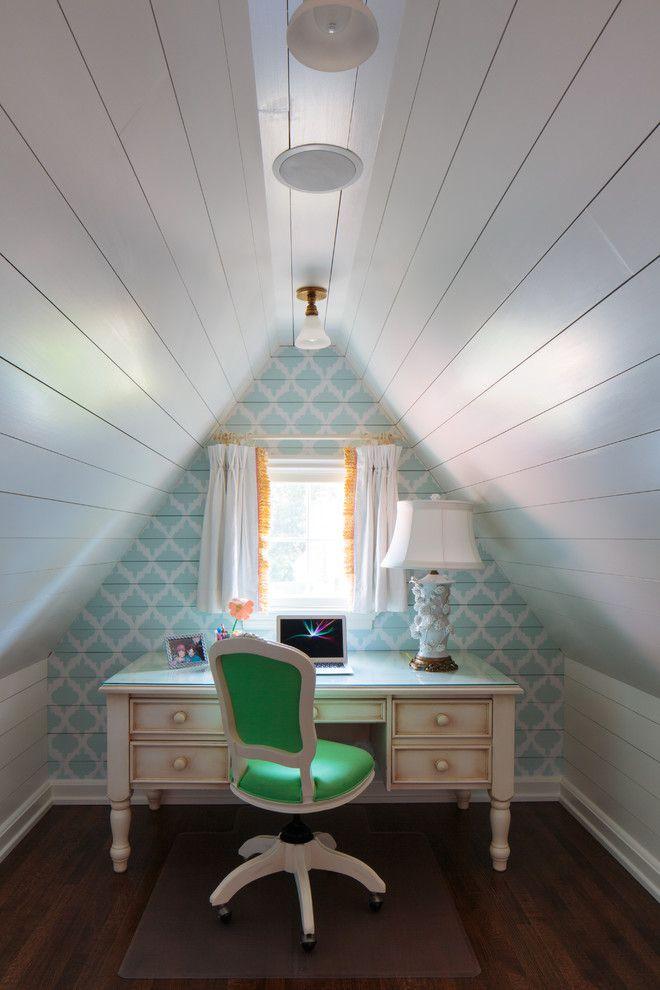 Attic Office Idea Attic Rooms Attic Renovation Attic House